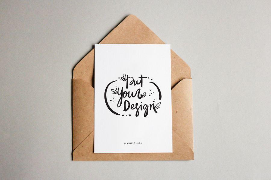 Free Postcard Mockup Pinteres