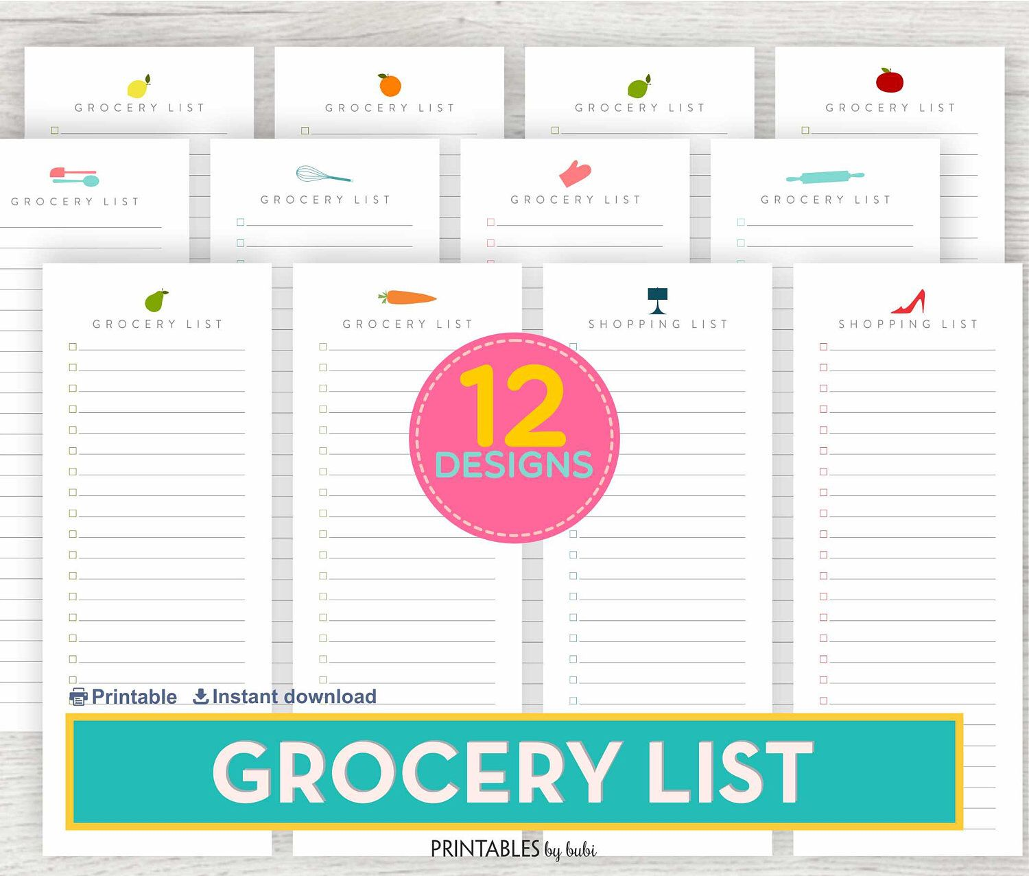 shopping list grocery