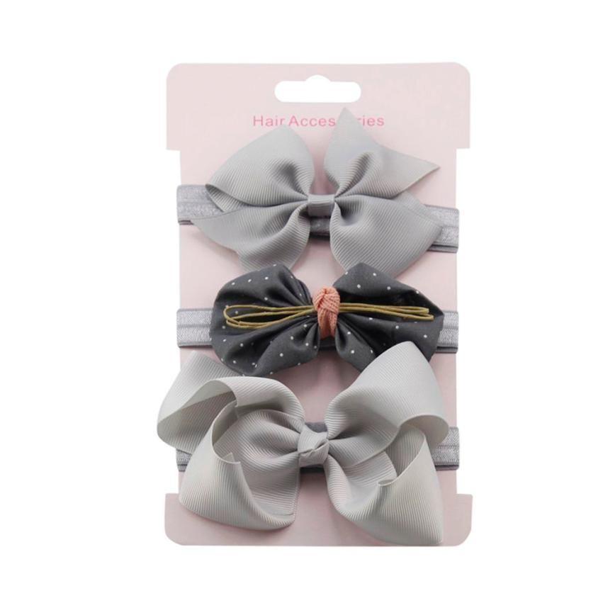 Girls Kids Elastic Hairbands Bowknot Baby Floral Headband Hair Accessories