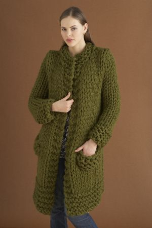 Weekender Jacket free knit pattern lionbrand.com - 4 sts + 4 rows ...