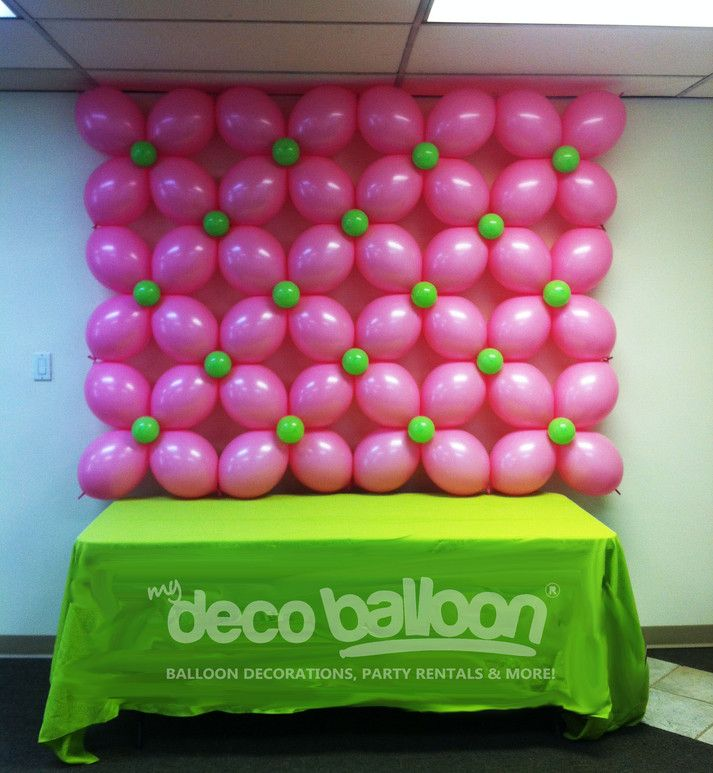 Balloon decoration my deco balloon balloon walls globos for Balloon decoration on wall