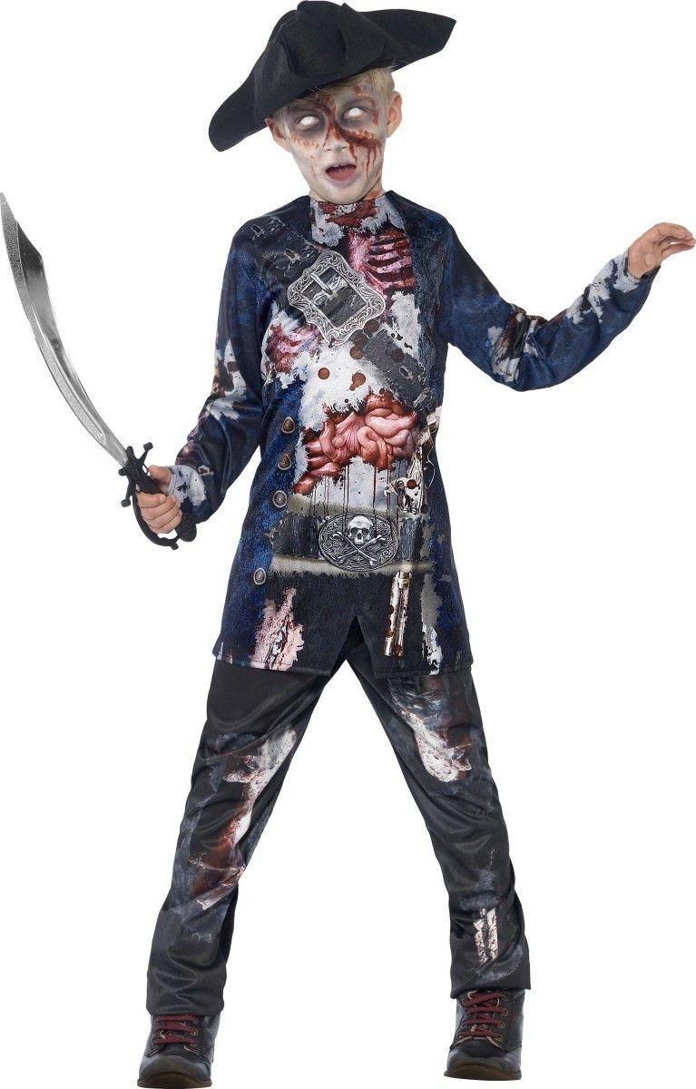 70fc05e75d178d Déguisement zombie pirate garçon Halloween   Ce déguisement de zombie  pirate pour enfant se compose d une tunique, d un pantalon et d un chapeau  (sabre, ...
