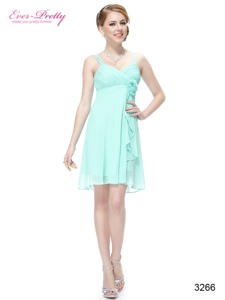 Blue Flower Unique Ruffles Empire Waist Short Wedding Dress | Mia\'s ...
