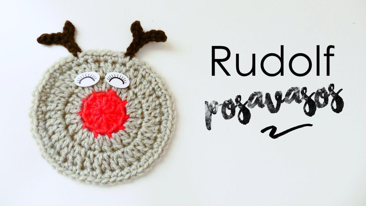 Posavasos de Rudolf el Reno a Crochet | crochet | Pinterest ...