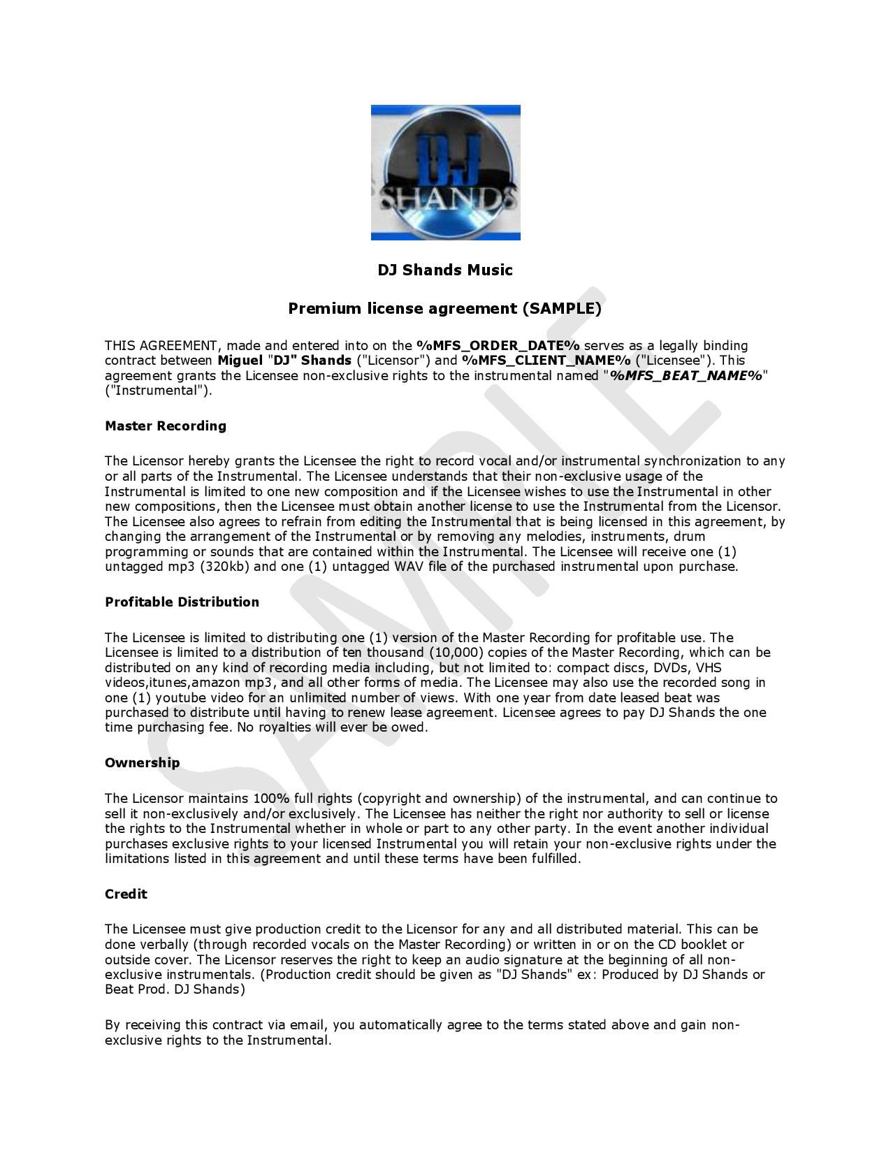 Entertainment Contract Agreement Images  Dj Agreement  Dj