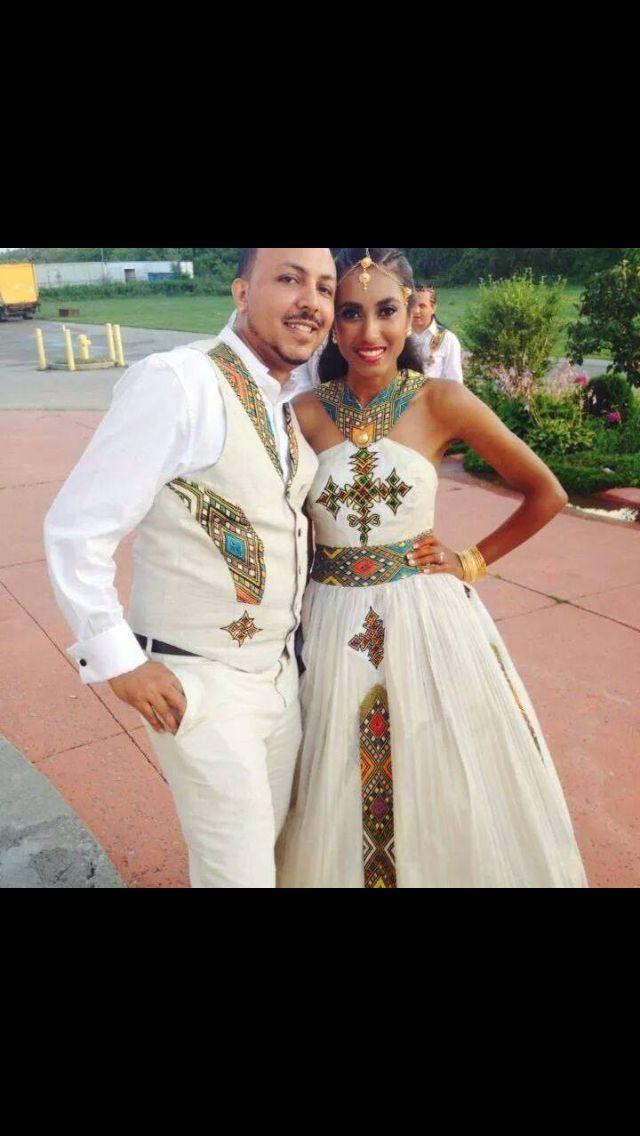 Habesha Bride In Melse Attire Ethiopian Dress Ethiopian
