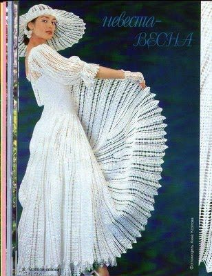 Crochê Tricô: Vestido de Noiva | Crochet & Knitting - Wedding dress ...