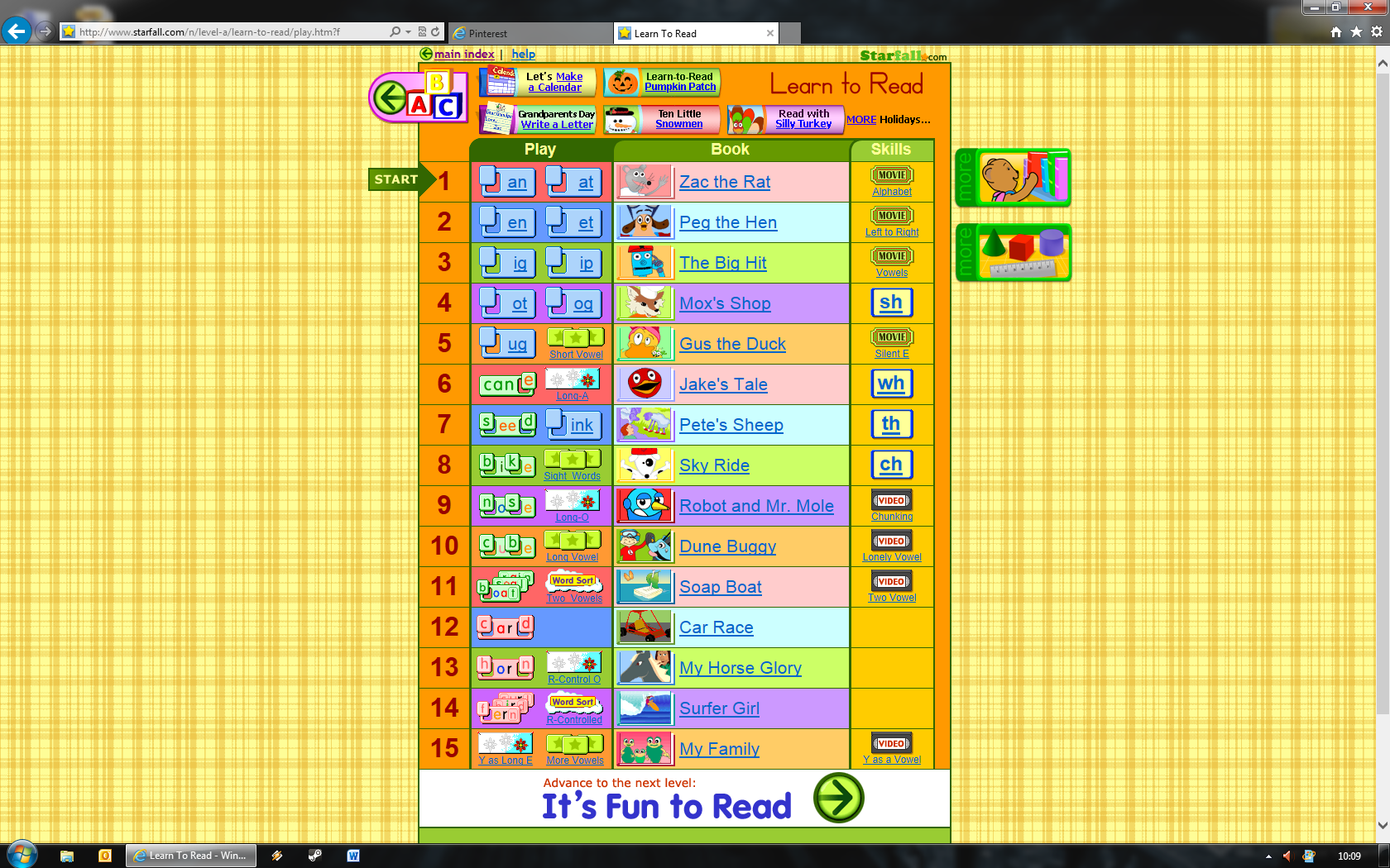 starfall.com- Free online games for many years. Also has teacher ...