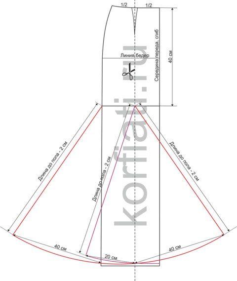 5bc99cdaf patron-para-hacer-una-falda-larga-corte-sirena-4 | Patrones Alta ...