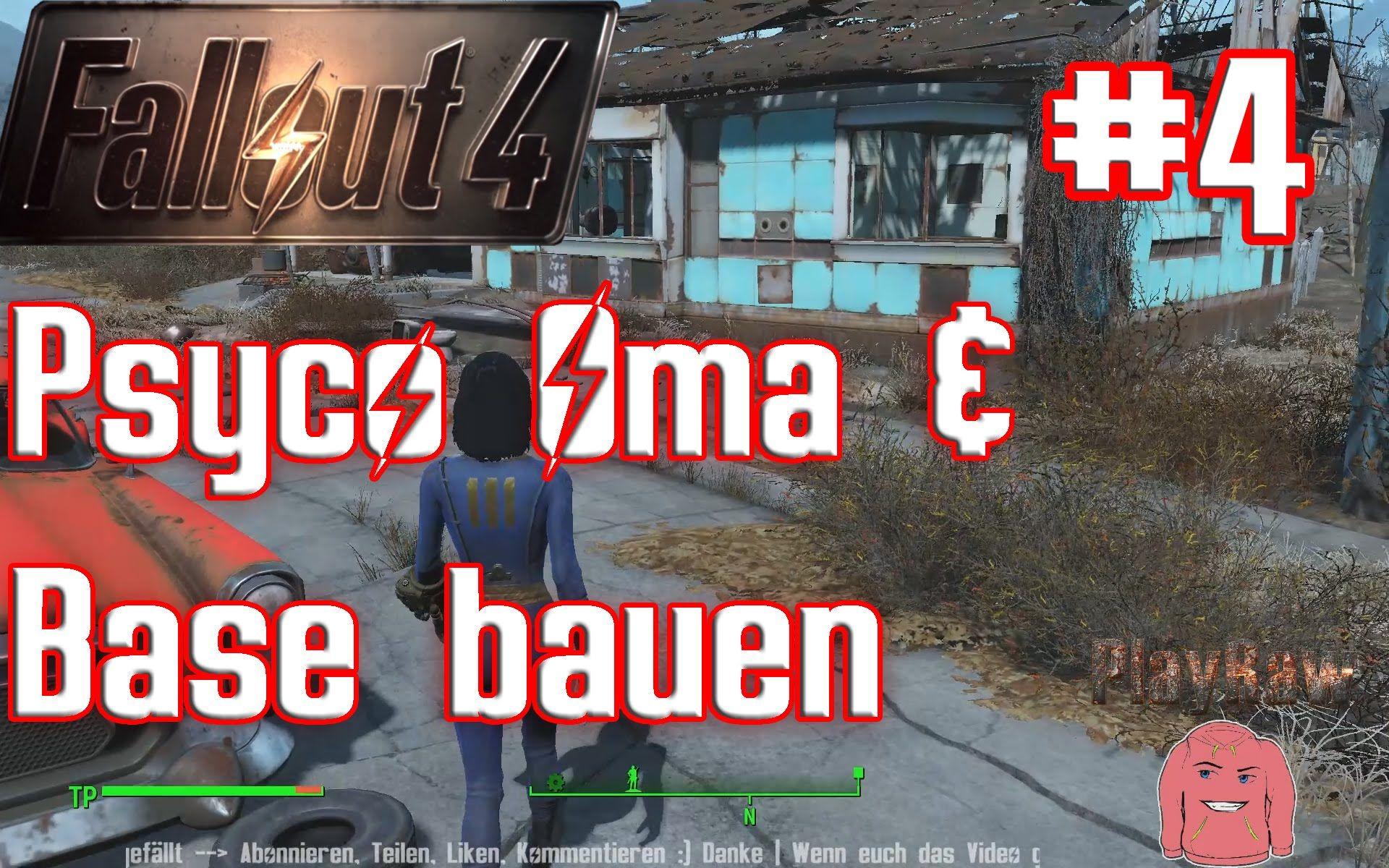 Fallout 4 Play Raw #4 Psyco Oma & Base bauen Gameplay German Deutsch Let...