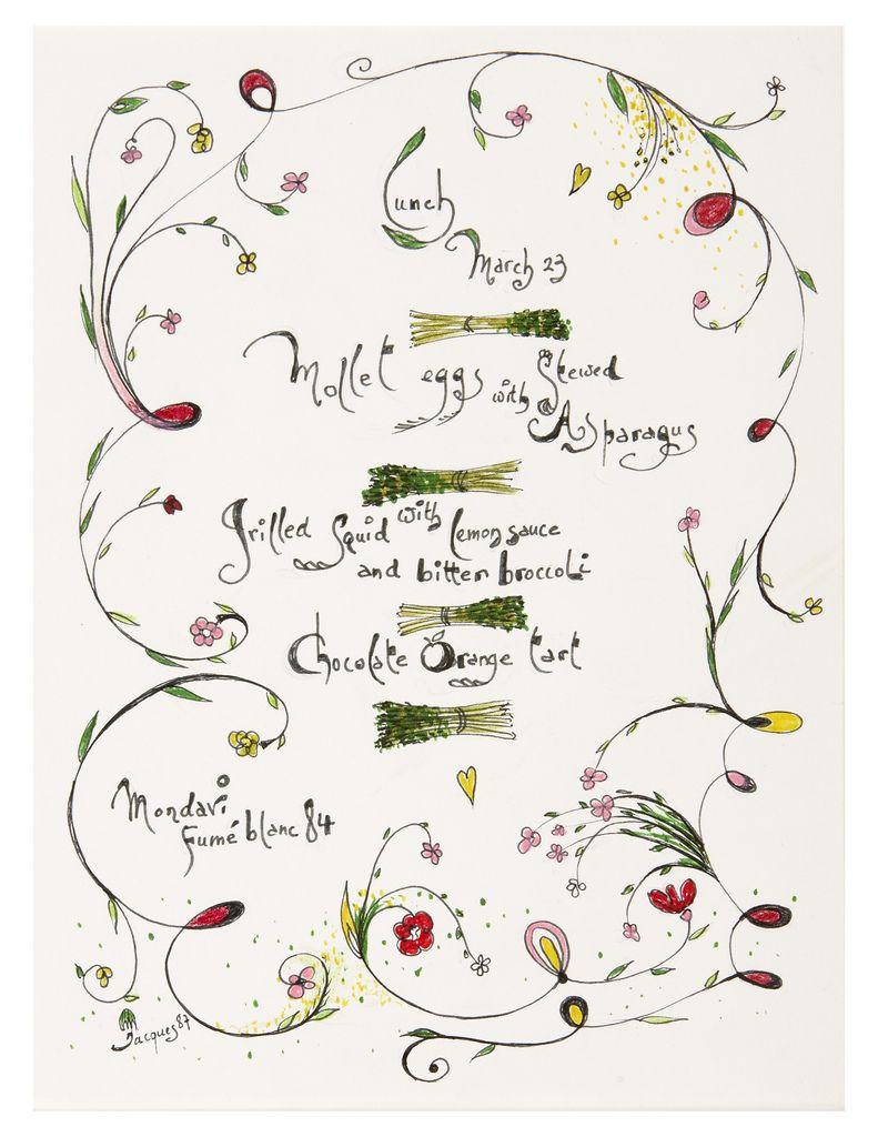 Jacques Pepin S Artwork Jacque Pepin Book Making Food Illustrations