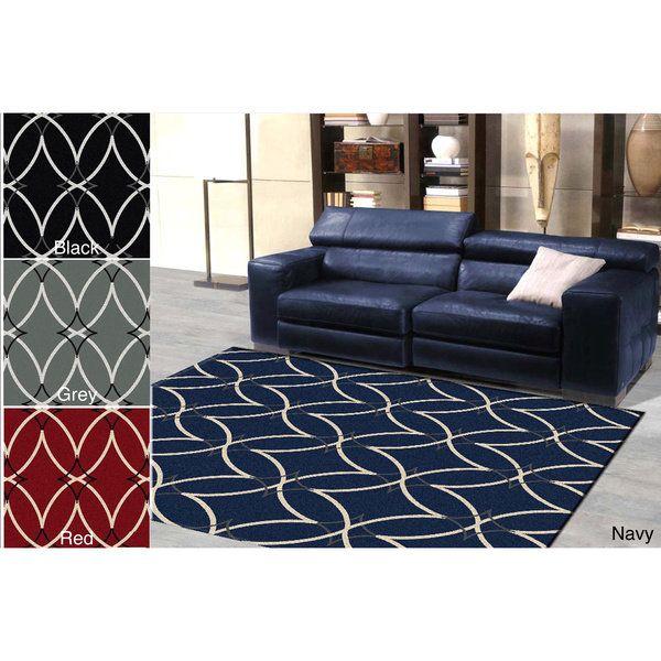 Admire Home Living \u0027Ashley\u0027 Diamond Modern Area Rug (7\u00279 x 11
