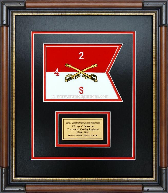 Gallery - Framed Guidon Examples - Framed Guidons | Guidons And ...