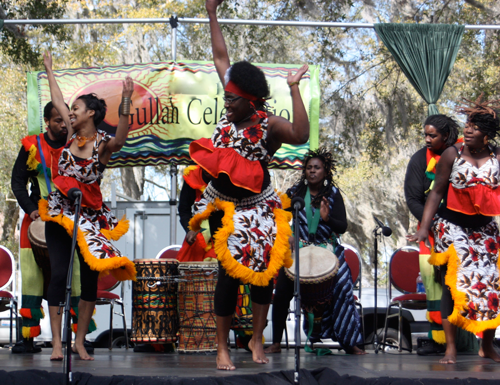 Photo Courtesy of Gullah/Geechee Nation. It shows dancers performing at the 2012 Gullah/Geechee Nation International Music & Movement Festival™ in Hilton Head, SC.
