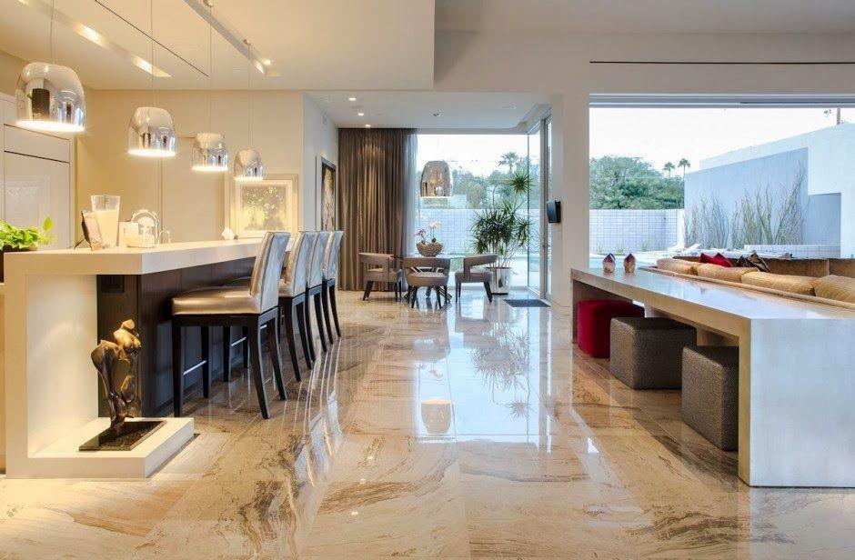 Dise o integrado moderno awesome interiors pinterest for Diseno cocina salon integrados