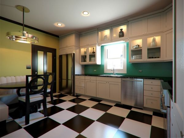 Art Deco Modern Kitchen : Art Deco Kitchen Designs: A Retro Style Of Your  Kitchen