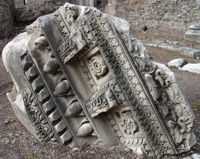 Temple of Venus Genetrix: Cornice Block from the Pediment