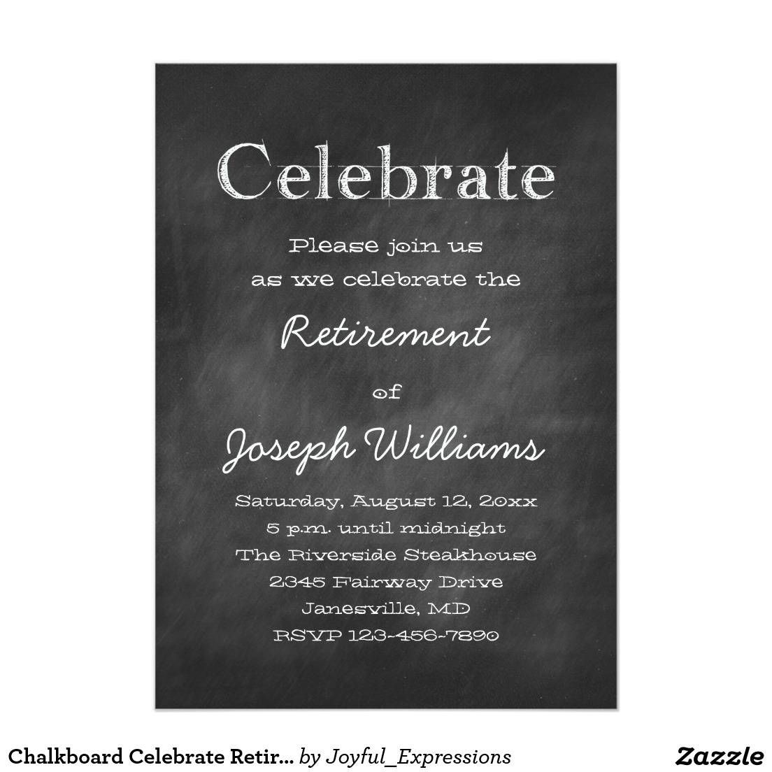 Retirement Party Invitation Template Free | Retirement | Pinterest ...