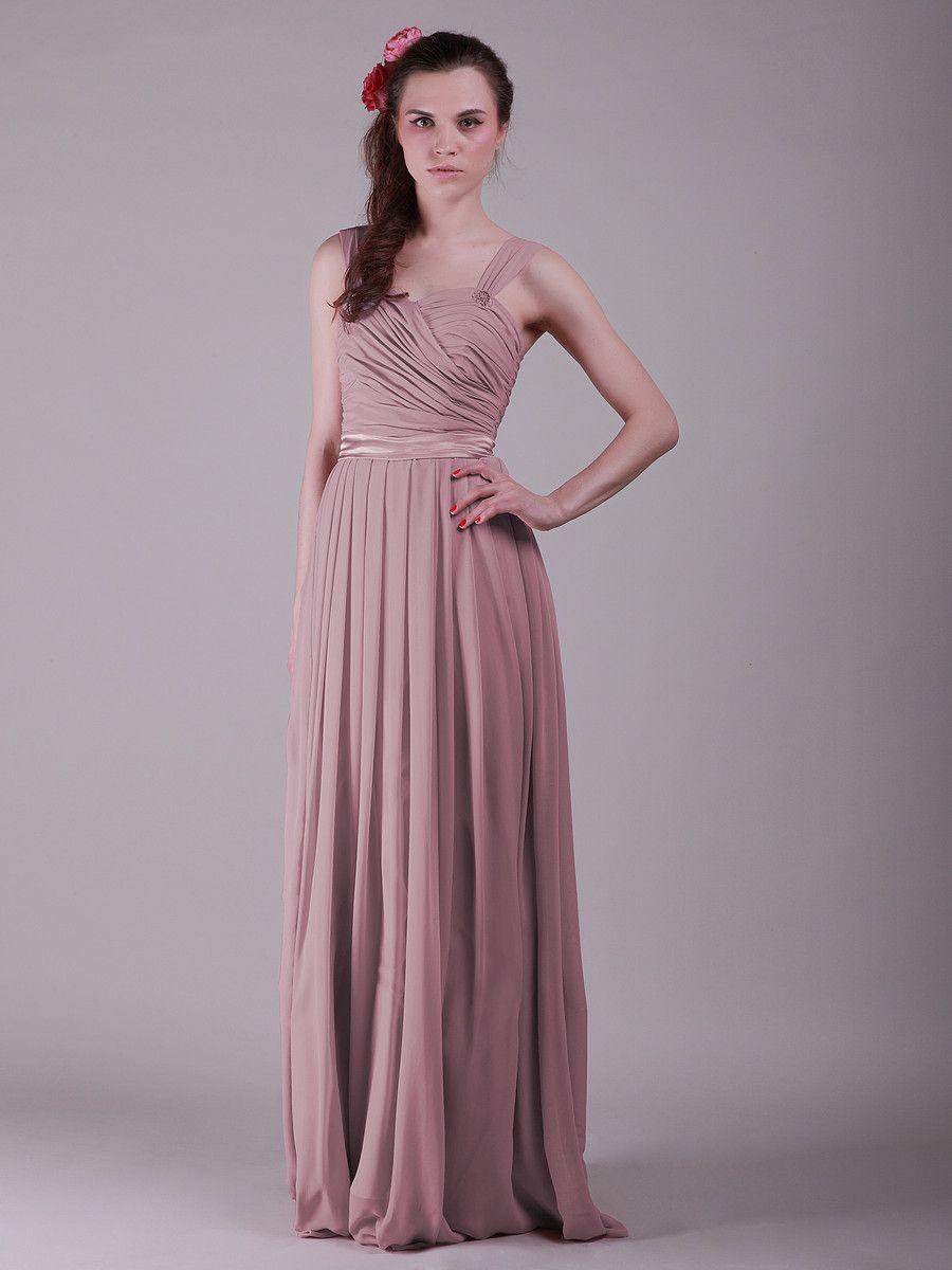 Twisted bodice jeweled strap vintage bridesmaid dress dresses