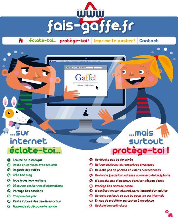 Préférence Protéger les enfants des dangers d'internet avec fais-gaffe.fr  QH91