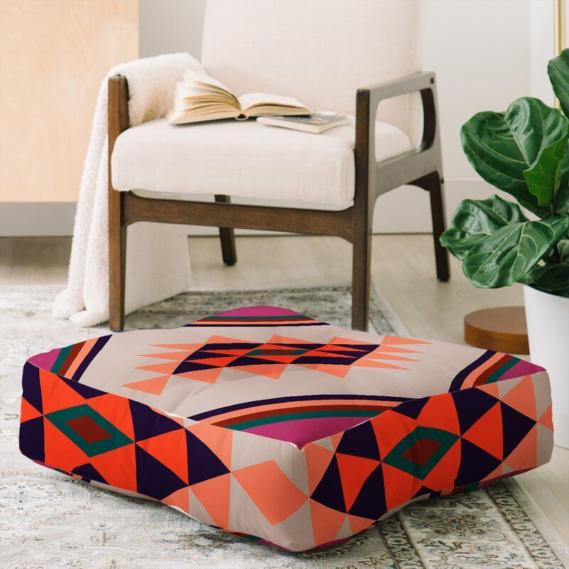 Southwest Floor Cushion In 2020 Square Floor Pillows Floor