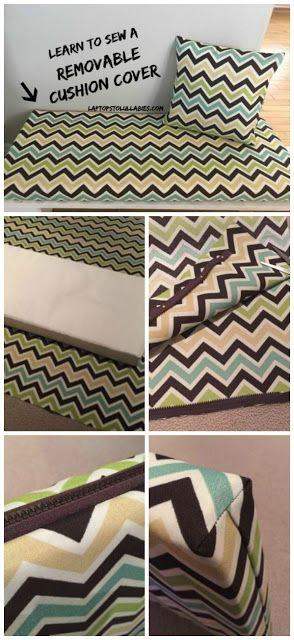 Laptops to Lullabies: Sew a removable cushion cover