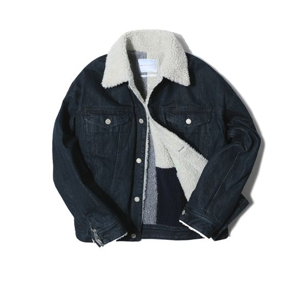 [DENIM SHERPA JACKET indigo]