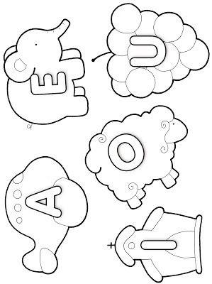 Alfabeto Para Colorir Vogais Consoantes Com Imagens
