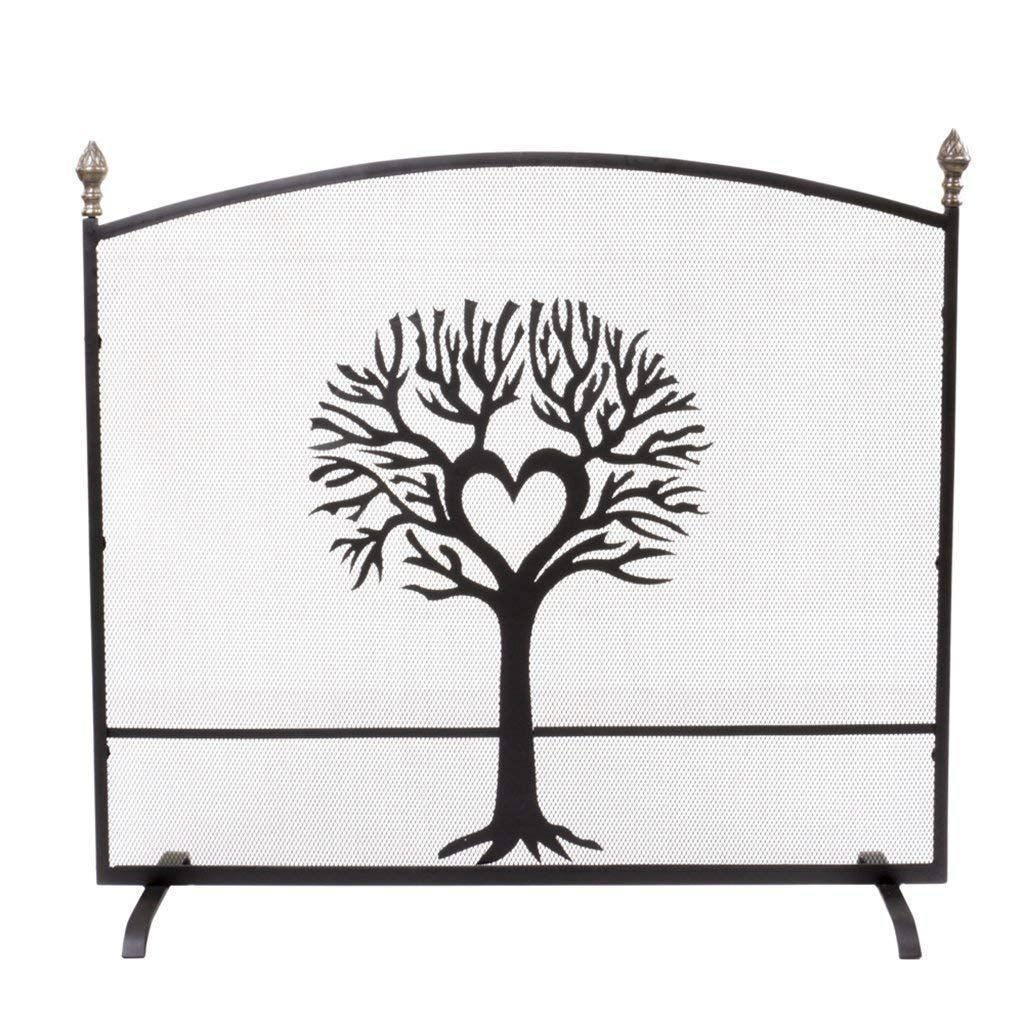 Free Standing Fine Mesh Panel Fireplace Guard Spark And