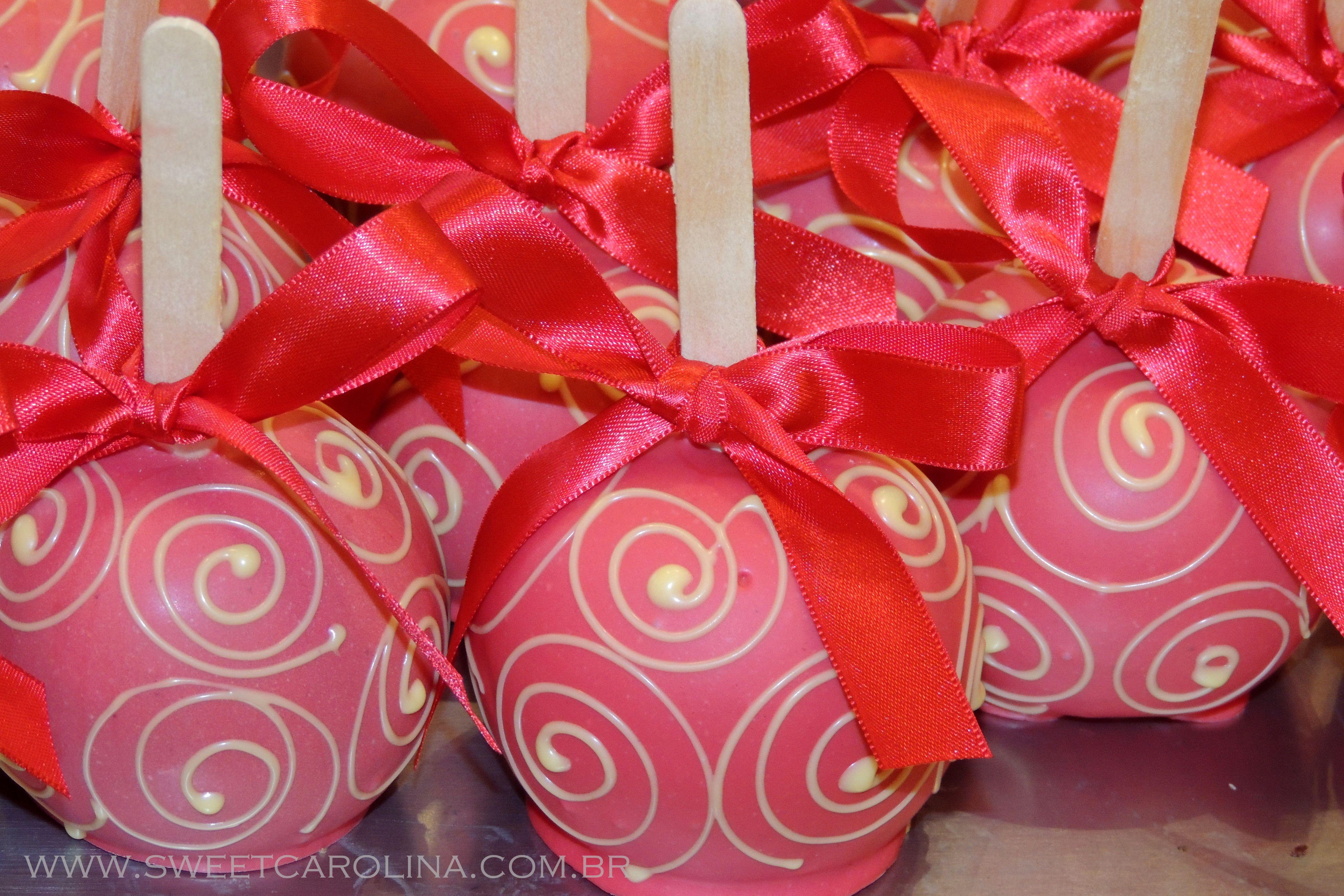 Maças do Amor vermelhas! | Maças do Amor | Pinterest | Candy apples ...