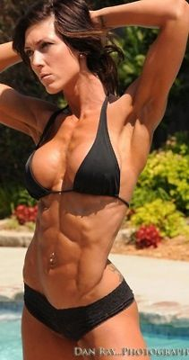Busty fitness hardbodied sexy woman consider