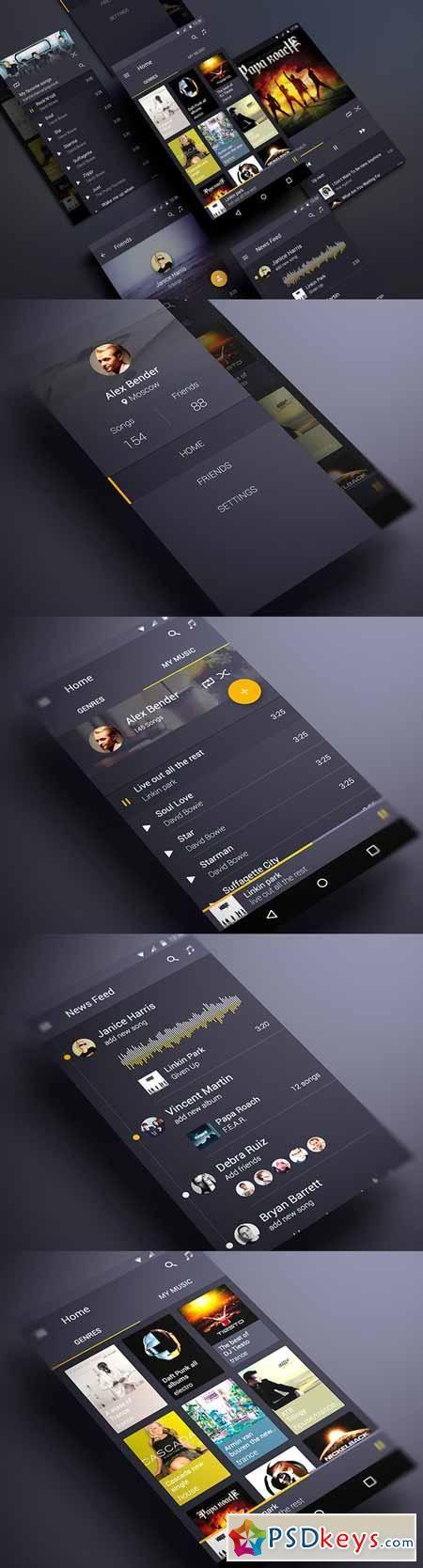 Android music app material design 139303 design tec android music app material design 139303 reheart Images