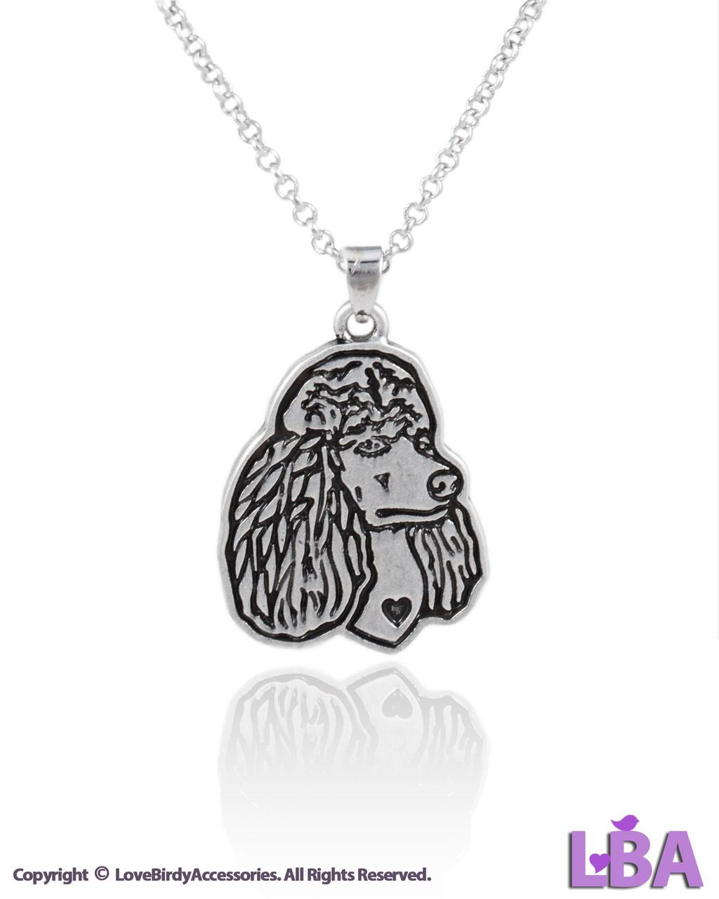 Jewelry Inspired by Animals: Antique Silver Tone Poodle Dog Pendant Necklace
