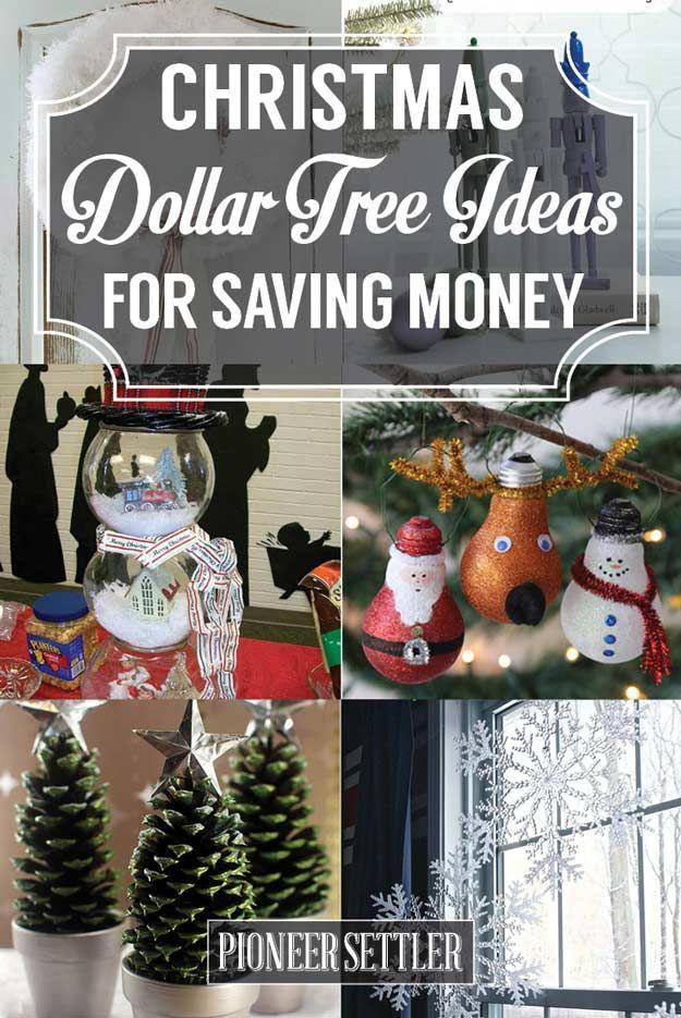 Christmas Dollar Tree Ideas For Saving Money Homesteading Dollar Tree Christmas Christmas Decorations Dollar Tree