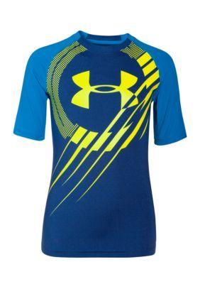 Under Armour  Short Sleeve Show Me Sweat UPF Tee Shirt Boys 8-20