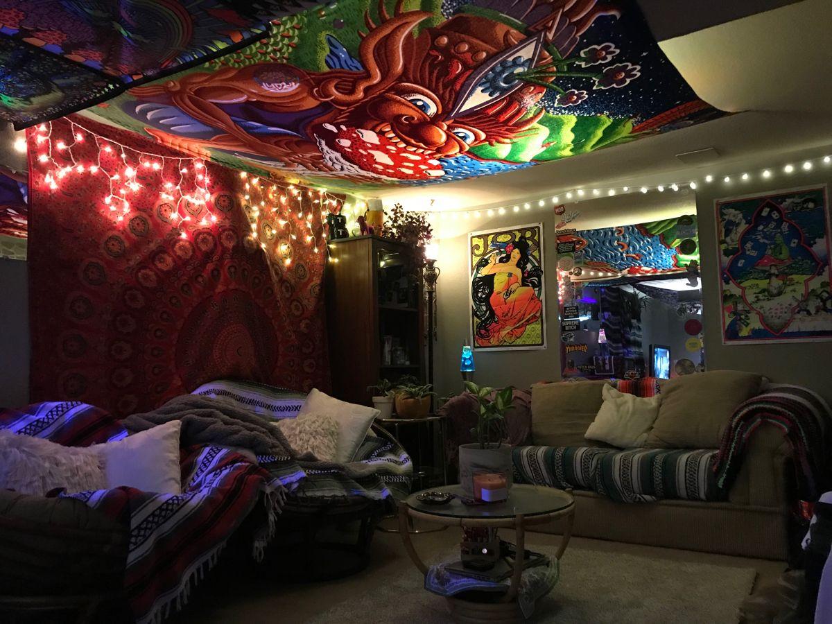 Hippie Bedroom Apartment Deco Chill Room Hippie Home Decor