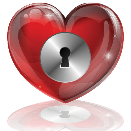 Locked Heart Valentine Heart Scrapbooking And Messages