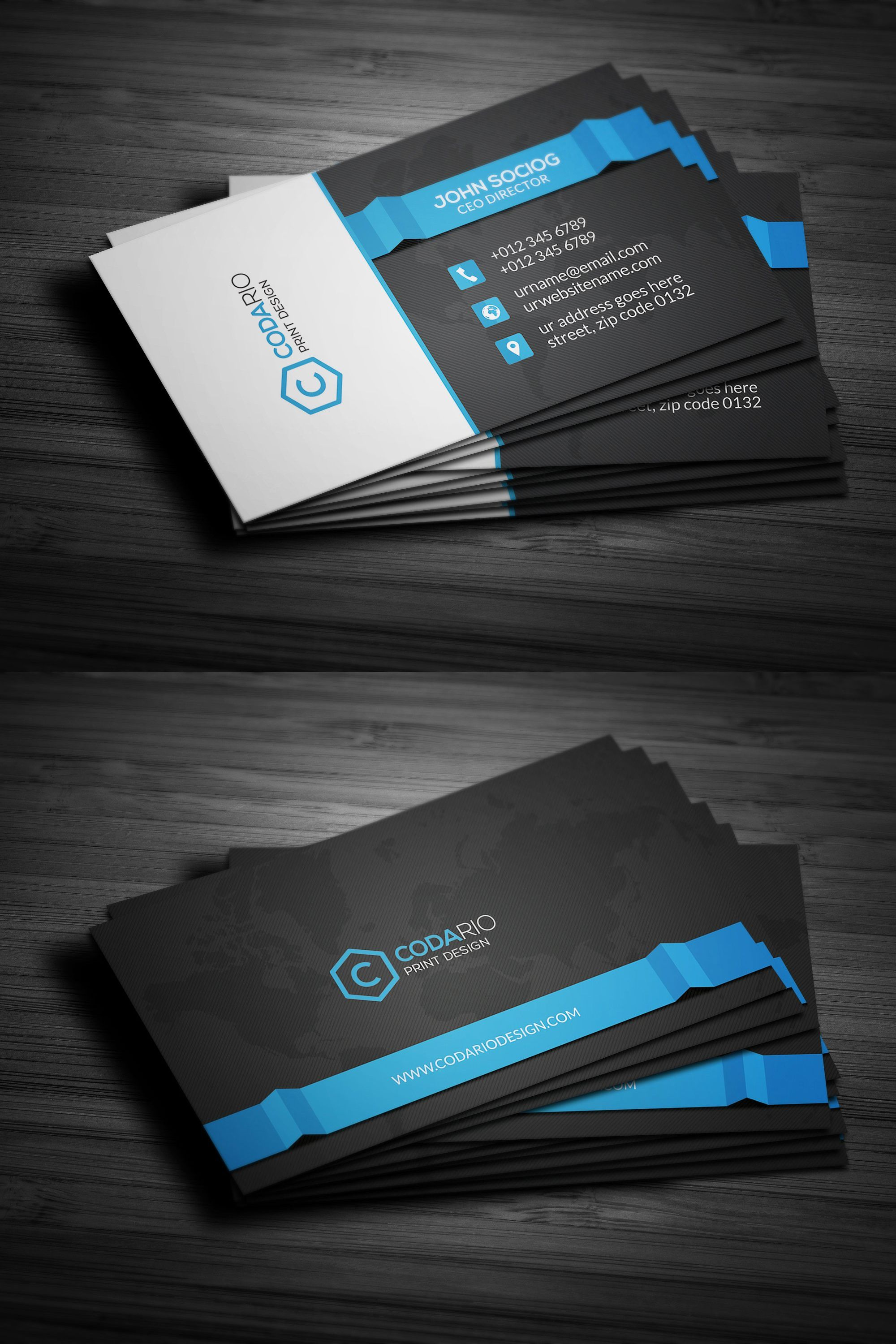 Modern Corporate Business Cards Business Card Template Psd Create Business Cards Business Card Template Photoshop