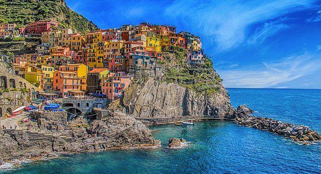 Cinque Terre, Italy, Houses, Color