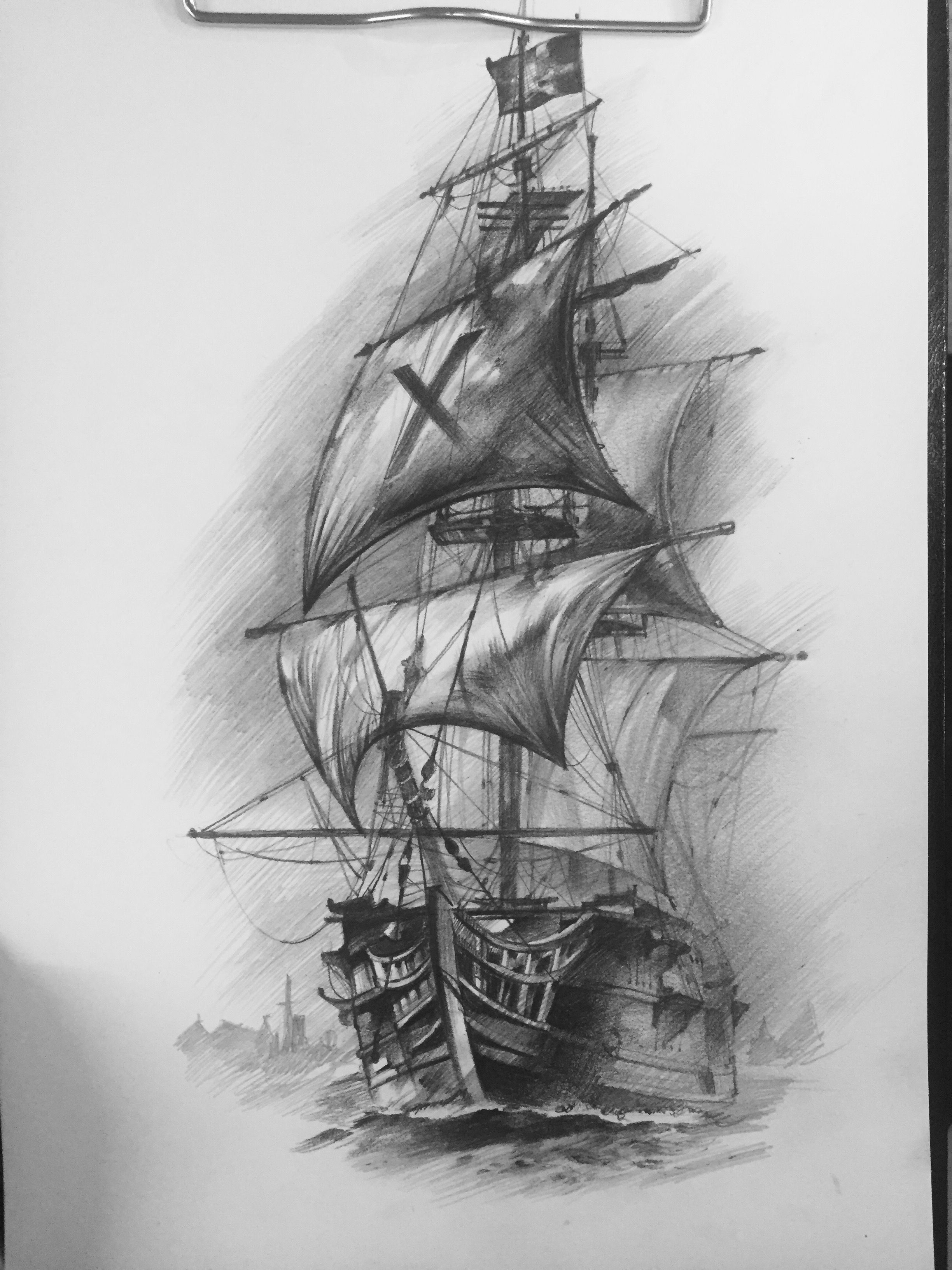 Pin By Christopher Hastings On Tattoos Pinterest Sailing Ships Ship Diagrams Pirate Tattoo Croquis Architecture Boat Drawing Octopus