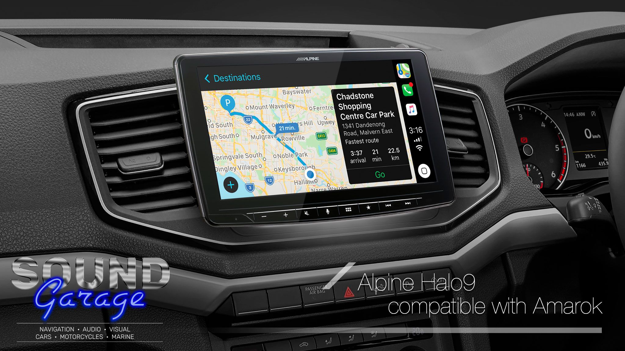 Alpine Hilux15 F309e Compatible With Toyota Hilux 2015 2021 Sound Garage Apple Car Play Car Parking Alpine