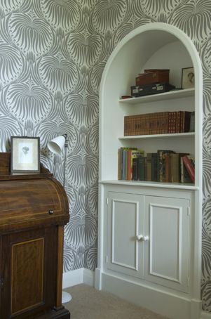 Farrow Ball Lotus BP2011 Wallpaper With White Tie Estate Eggshell