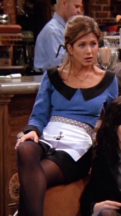 Jennifer Aniston Is Sexy In Black Tights As Rachel Green On Friends