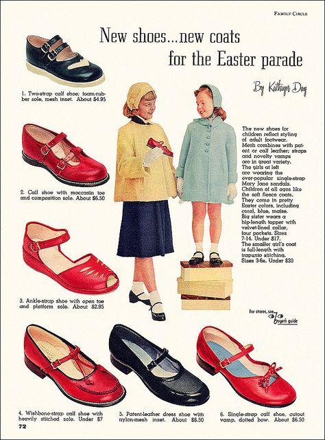 Footwear 3 1953 Vintage Outfits Fashion Vintage