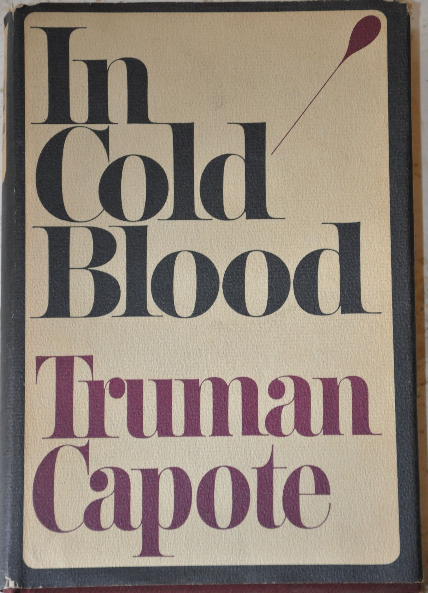In Cold Blood by Truman Capote 1965 Hardcover with Dust Jacket, First Edition