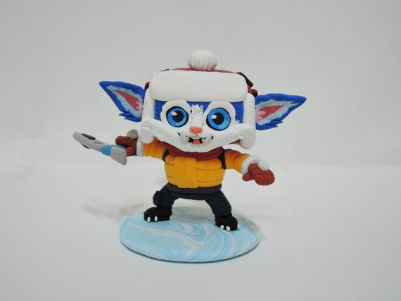 League of legends: Snow Day Gnar by TheJumpingGenie on Etsy