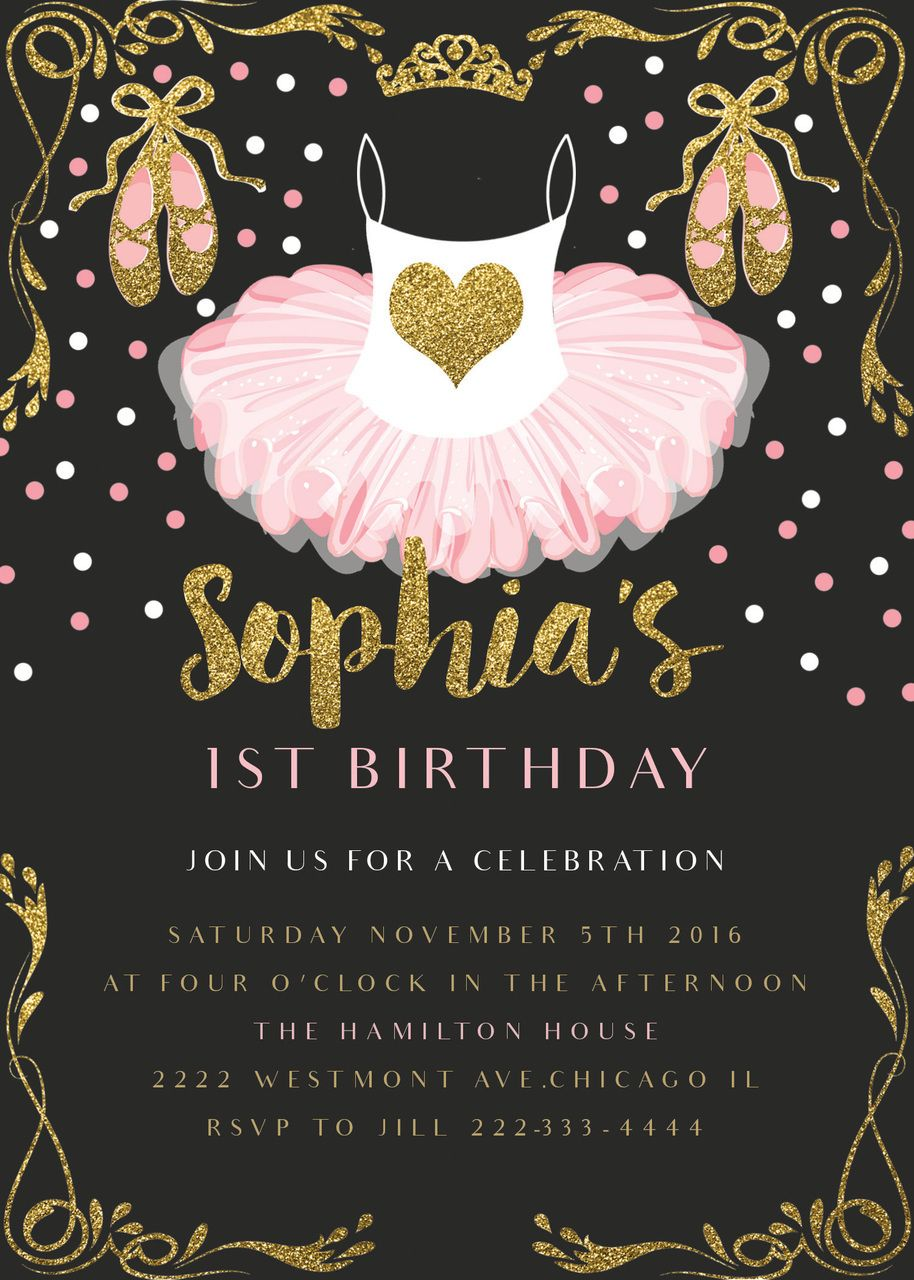 Free printable invitation - ballerina party... my daughter will ...