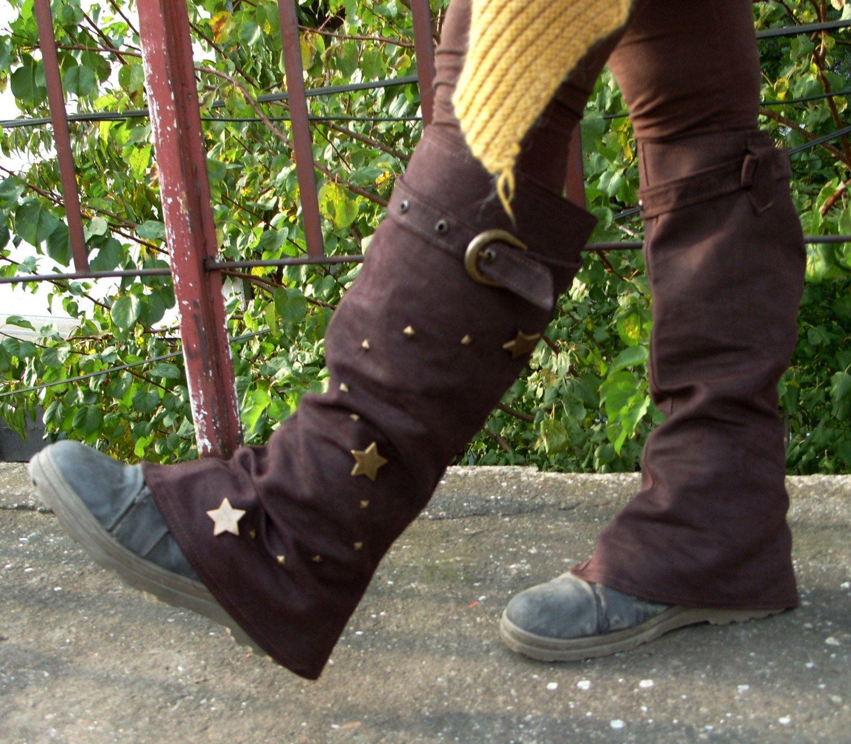 MorningStar - Steampunk Spats, Boot Covers, Boho Spats ...