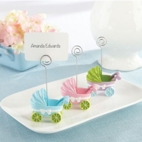 Baby Carriage Place Card Holder Baby Shower Favors 3ct   Party City