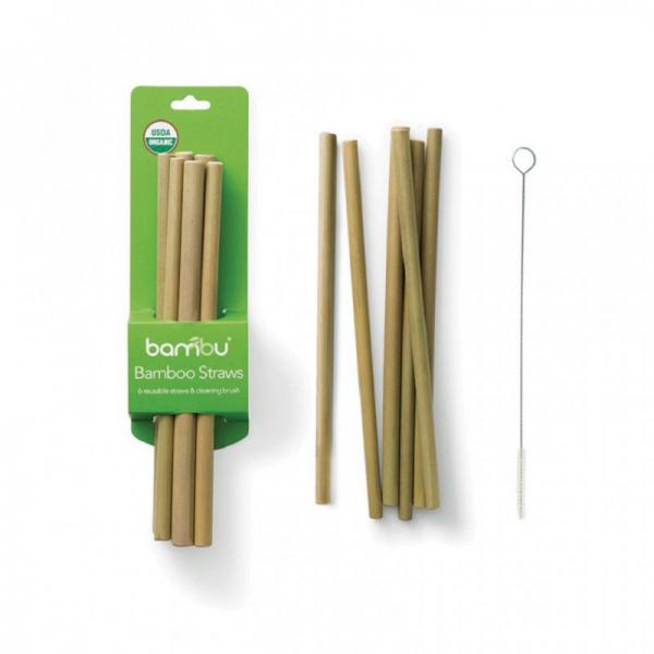 Bambus Strohhalme 6 Er Pack Mit Reinigungsburste Eco Ethical